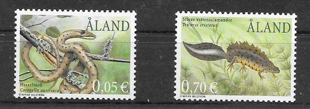 Estampillas Fauna Aland 2002