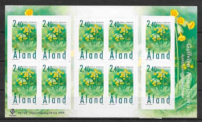 colección sellos flora Aland 1999