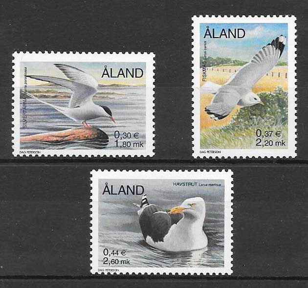 colección sellos fauna Aland 2000
