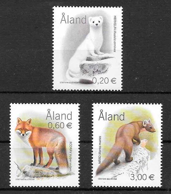 filatelia colección fauna Aland 2004