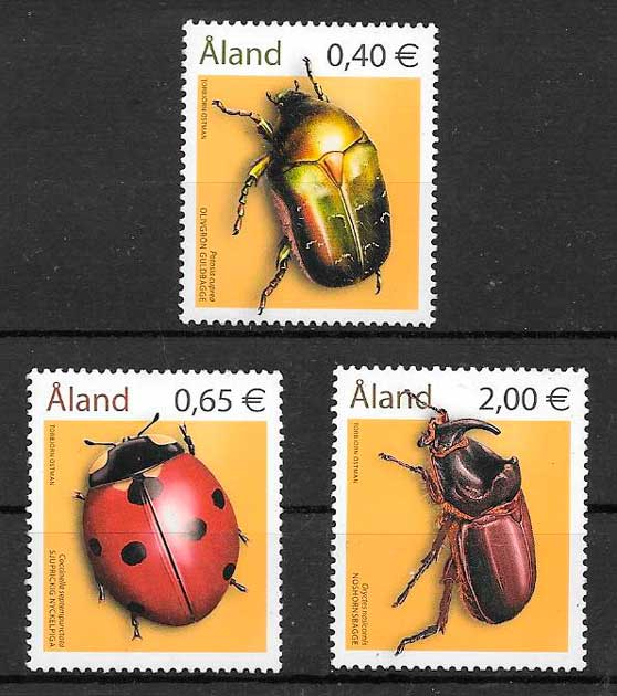 filatelia fauna Aland 2006