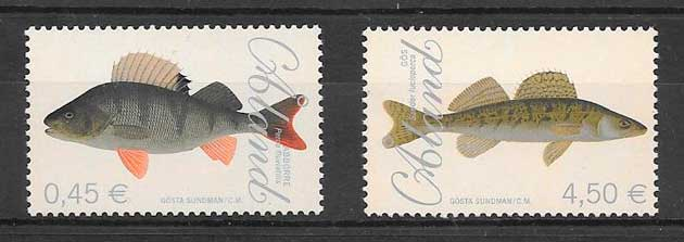filatelia colección fauna Aland 2008