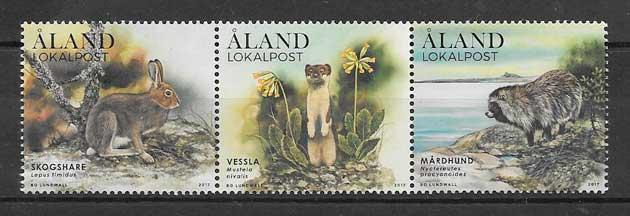 colección sellos fauna Aland 2017