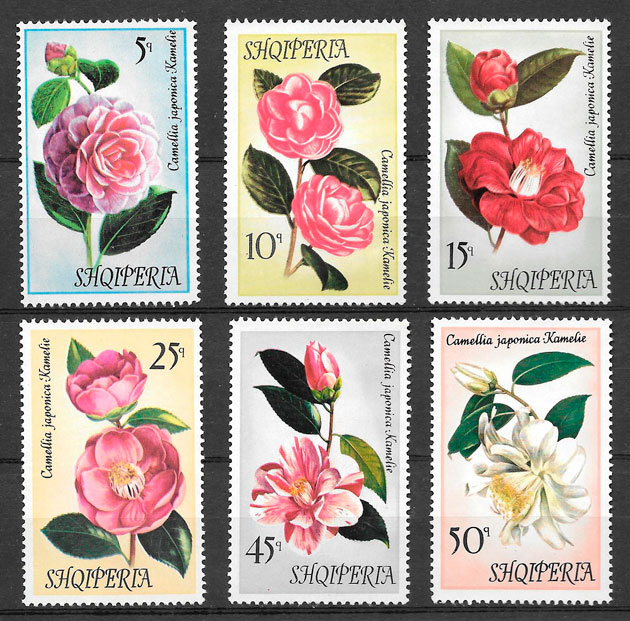 filatelia flora Albania 1972