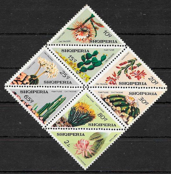 filatelia colección flora Albania 1973