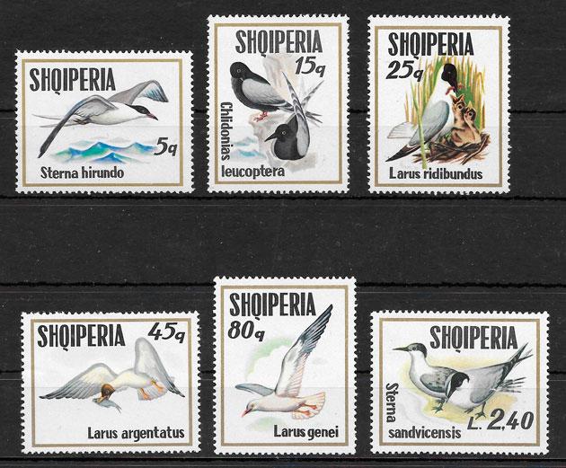 filatelia colección fauna Albania 1973