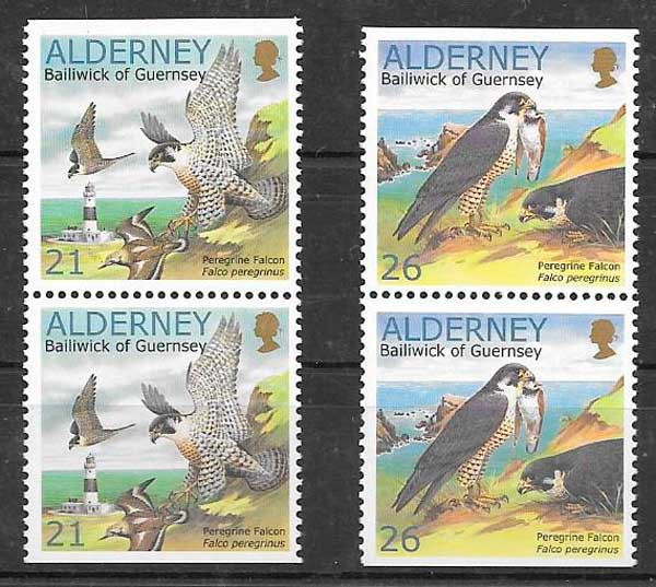 colección sellos fauna Alderney 2000
