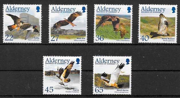 filatelia fauna Alderney 2002