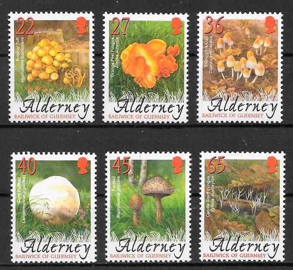 filatelia setas Alderney 2004