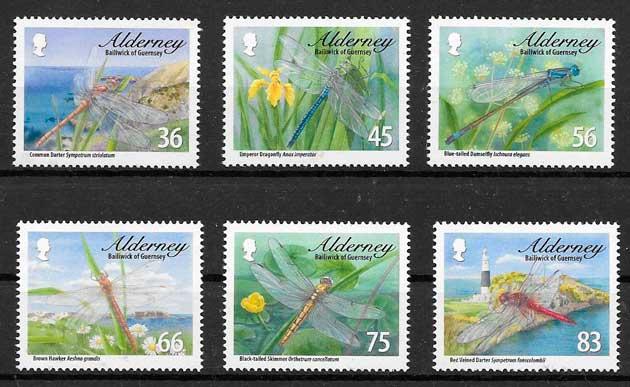 colección sellos fauna Alderney 2010