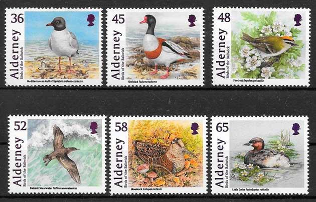 colección sellos fauna Alderney 2011