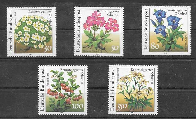 Sellos flores del jardín botánico Alemania