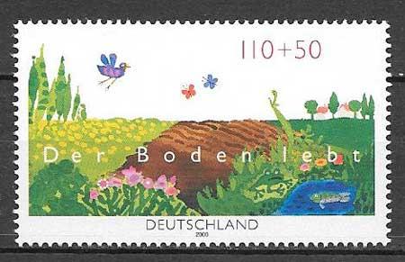 sellos flora Alemania 2000