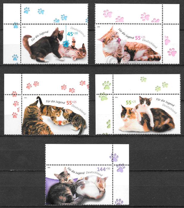 sellos gatos y perros Alemania 2004
