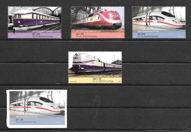 Colección sellos serie de locomotoras