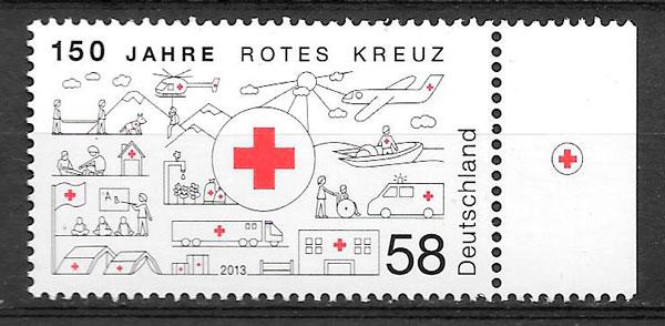 filatelia colección cruz roja Alemania 2013