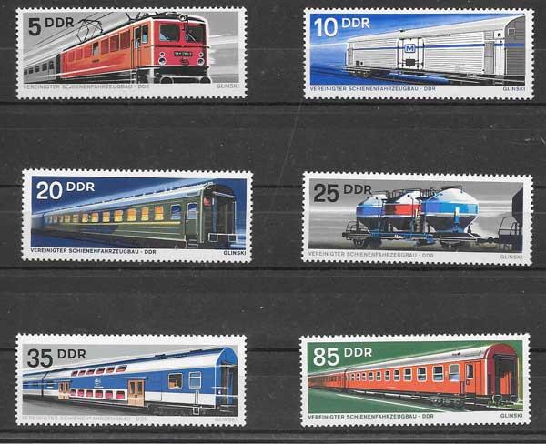 Estampillas transporte ferroviario DDR 1973