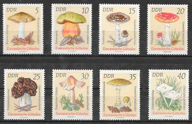 filatelia setas Alemania DDR 1974