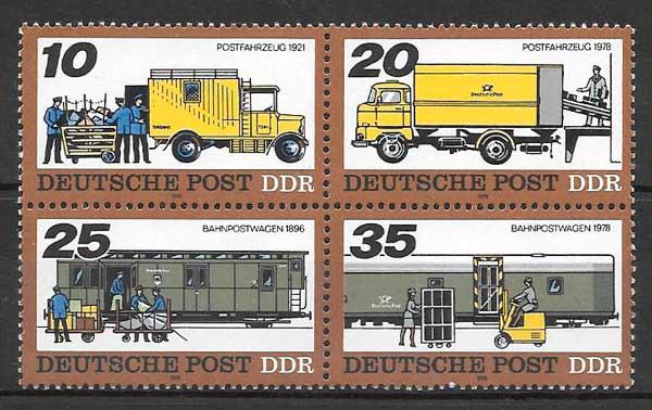 filatelia trenes Alemania DDR 1978