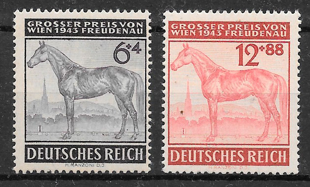 filatelia fauna Alemania Reich 1943