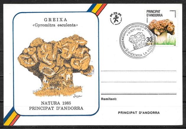 colección sellos setas Andorra 1985