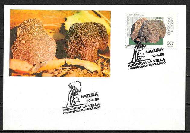 colección sellos setas Andorra 1996