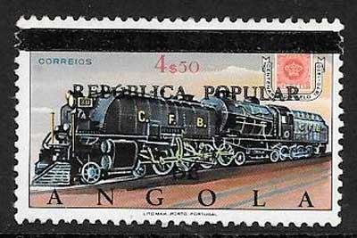 sellos trenes Angola 1980