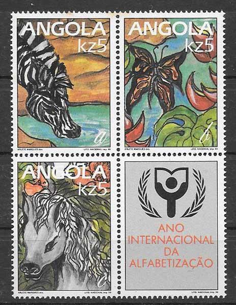 sellos fauna Angola 1990