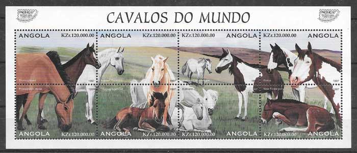 sellos fauna Angola 1997