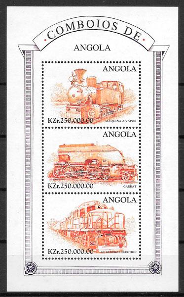 selos trenes Angola 1997