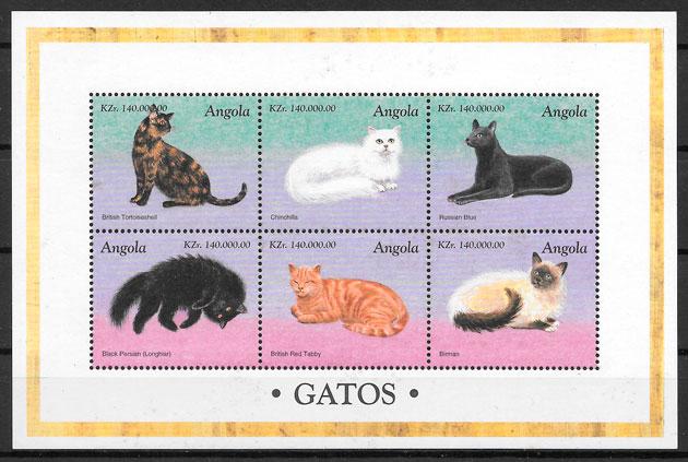 filatelia gatos 1998 Angola
