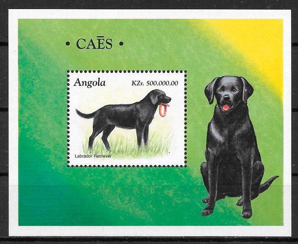filatelia perros 1998 Angola