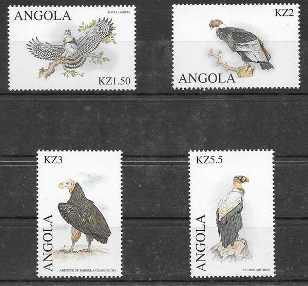 sellos filatelia fauna 2000 Angola