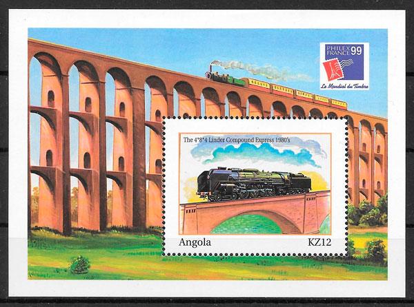 sellos trenes Angola 2000