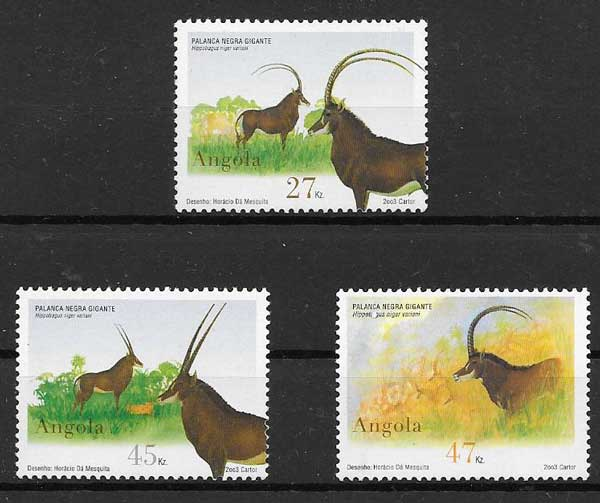 sellos fauna 2003 Angola