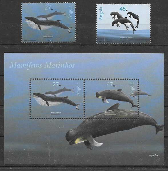 Filatelia fauna 2003 Angola