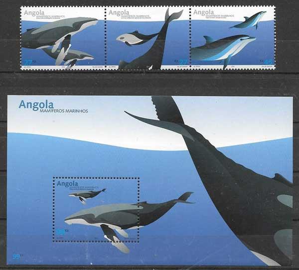 sellos fauna marina Angola 2004