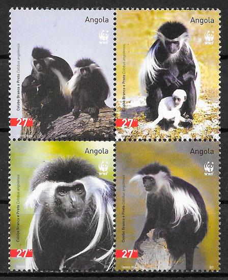 filatelia colección fauna wwf 2004