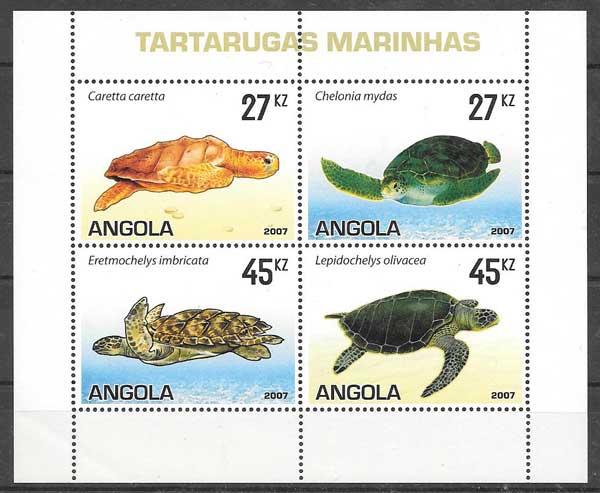 sellos colección fauna Angola 2007