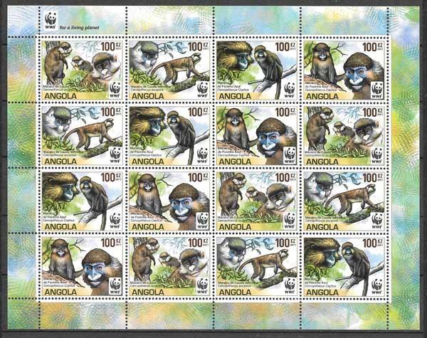 sellos fauna wwf Angola 2011