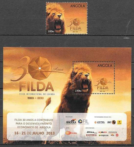 sellos fauna Angola 2013