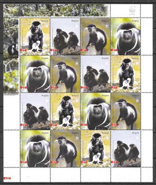 sellos fauna Angola fauna 2004