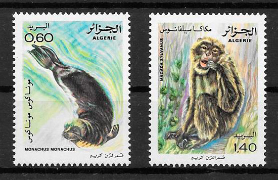 filatelia fauna Argelia 1981