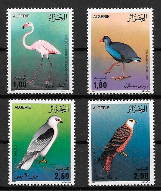 sellos fauna Argelia 1987