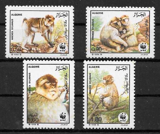 filatelia fauna wwf Argelia 1988