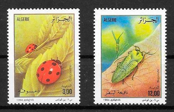 filatelia colección fauna Argelia 1994