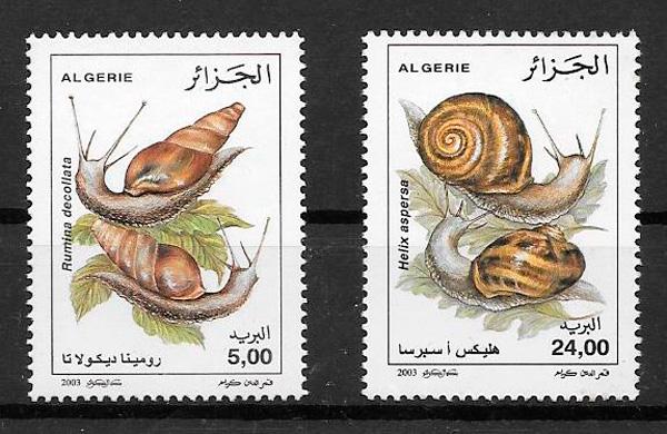 sellos fauna Argelia 2003