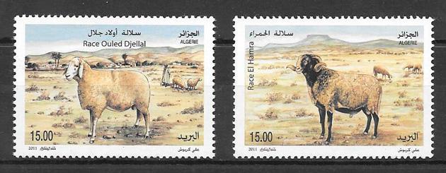 filatelia fauna Argelia 2011