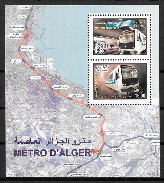 filatelia trenes Argelia 2011