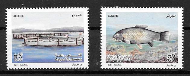filatelia fauna Argelia 2013